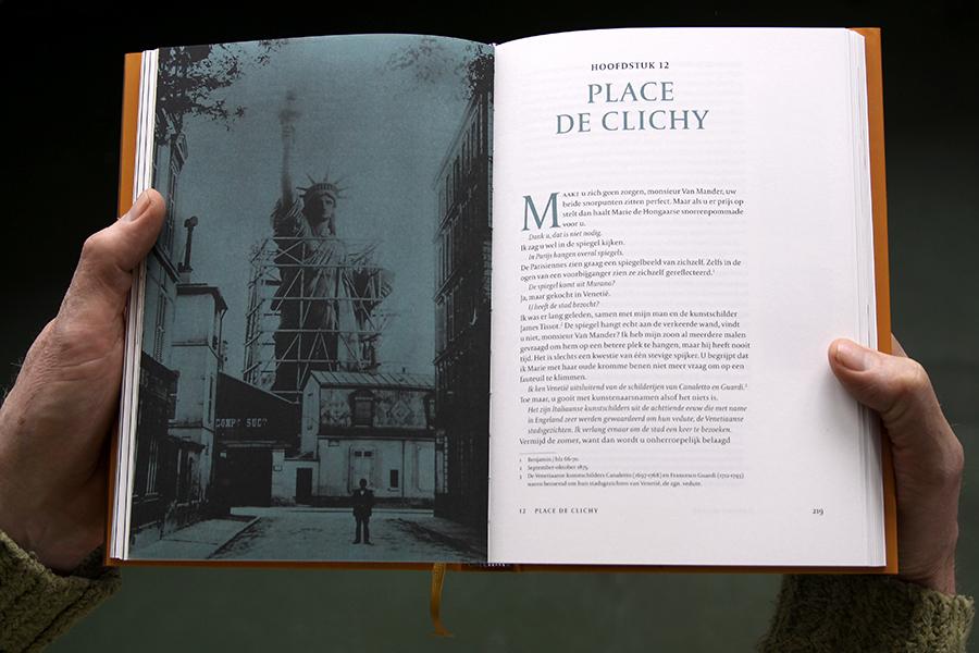 Vrijheidsbeeld in aanbouw in Parijs
